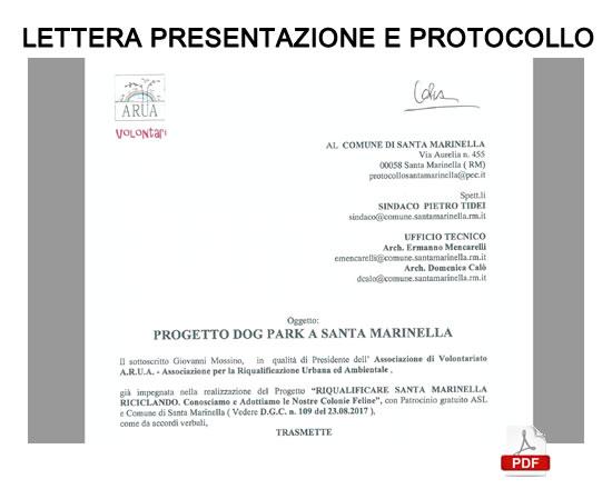 Lettera presentazione e protocollo