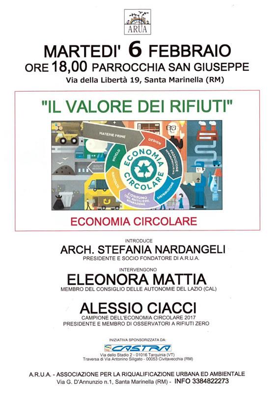 """evento 6 febbraio """"Il valore dei rifiuti"""" Arua"""